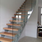 Staircase Glass Balustrade without Handrail